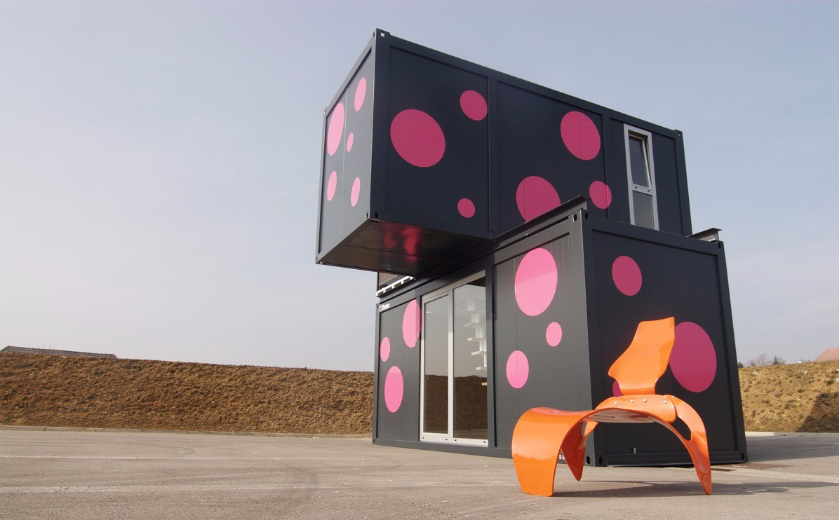 container haus great nike showroom mit haus container. Black Bedroom Furniture Sets. Home Design Ideas